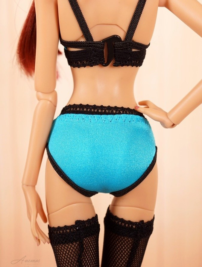 Aqua blue panties for 16 Kingdom Doll N.1