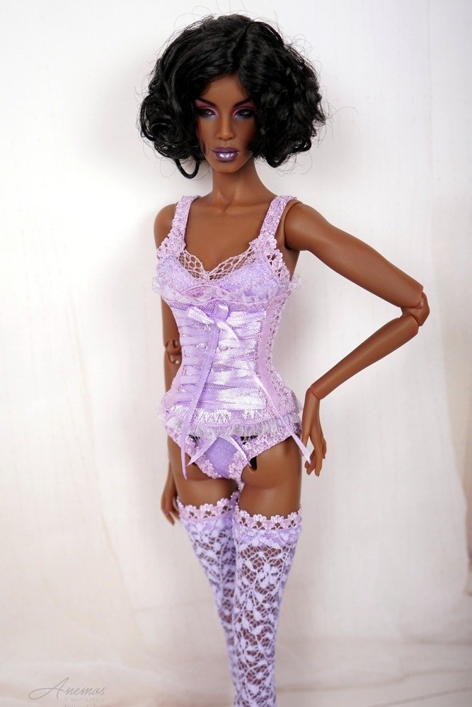 Lilac lingerie for 16 Kingdom Doll 1