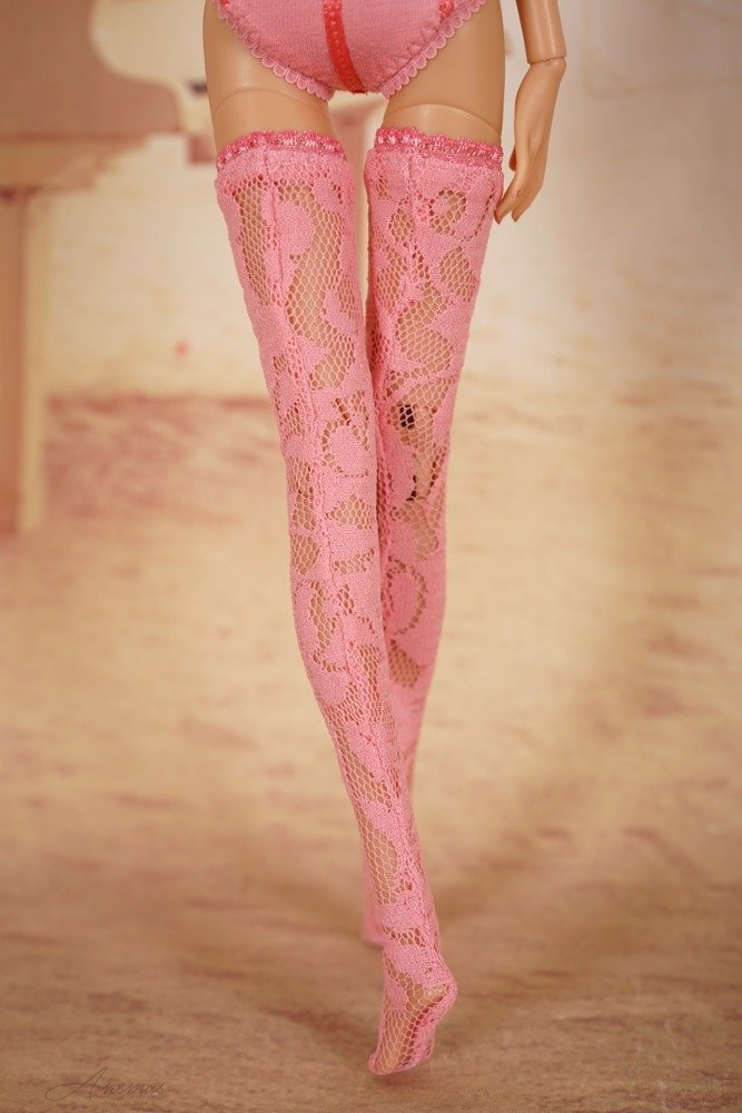 Coral stockings set for 16 Kingdom Doll