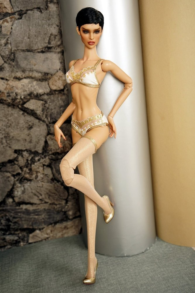 "Gold swimsuis collection for 16"" Kingdom Doll 11"