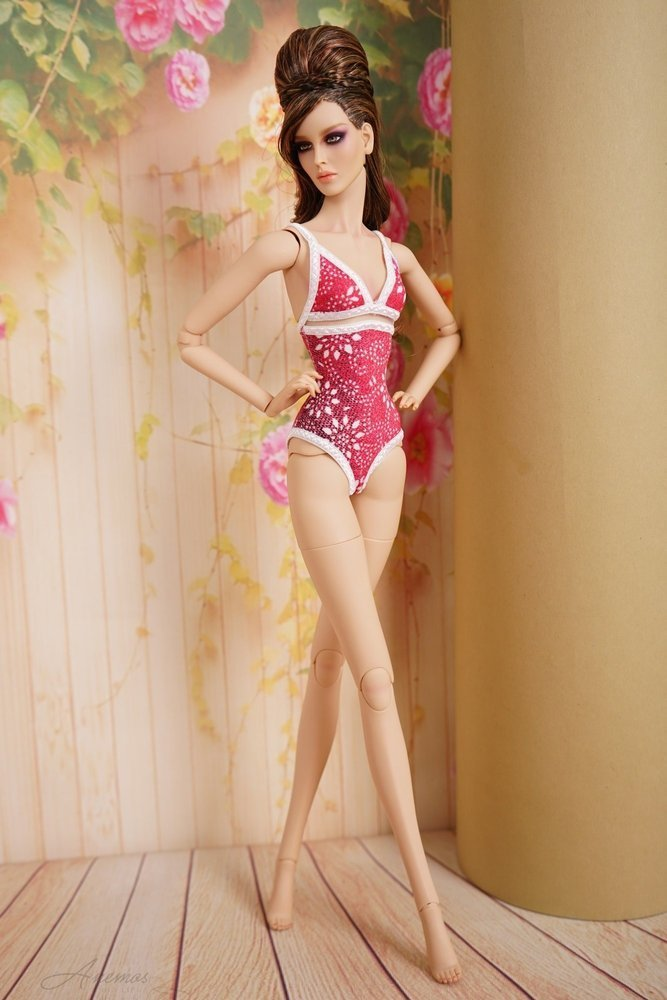 "Gold swimsuis collection for 16"" Kingdom Doll 12"