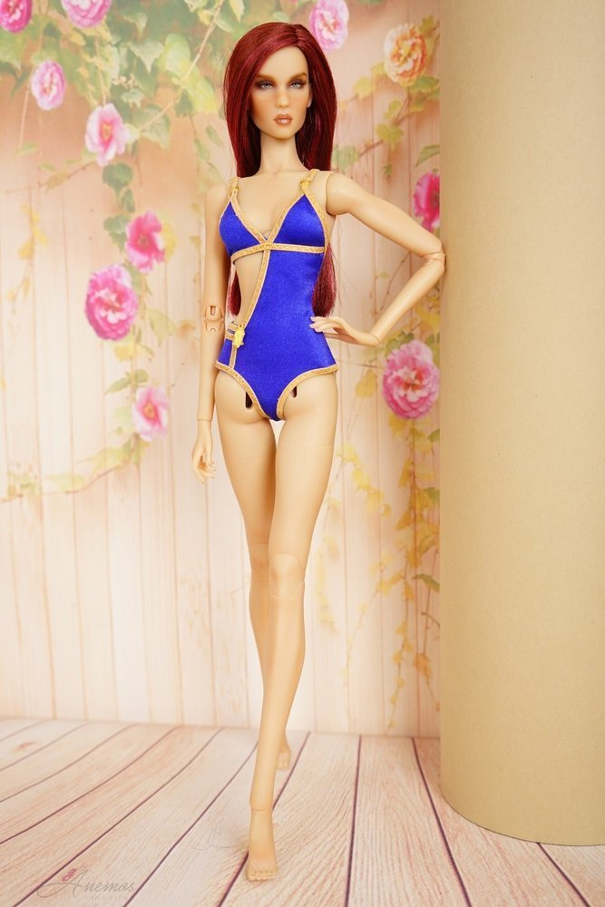 "Gold swimsuis collection for 16"" Kingdom Doll 17"