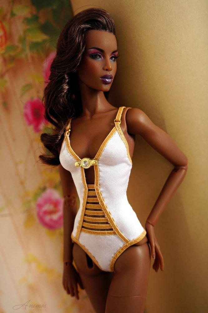 "Gold swimsuis collection for 16"" Kingdom Doll 19"