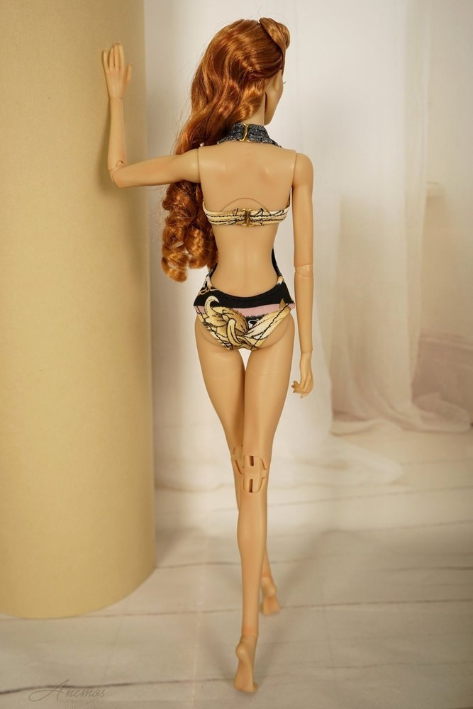 "Gold swimsuis collection for 16"" Kingdom Doll 23"