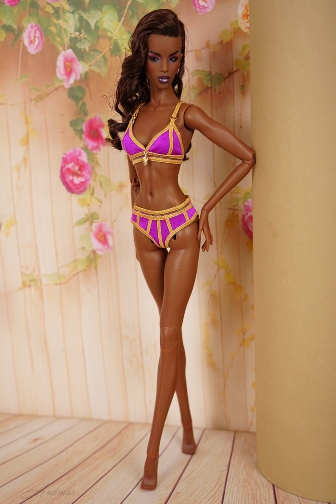 "Gold swimsuis collection for 16"" Kingdom Doll 4"