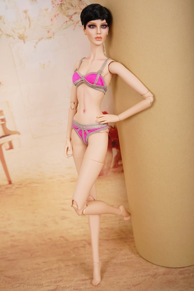 "Pink and silver bikini for 16"" Modsdoll 1"
