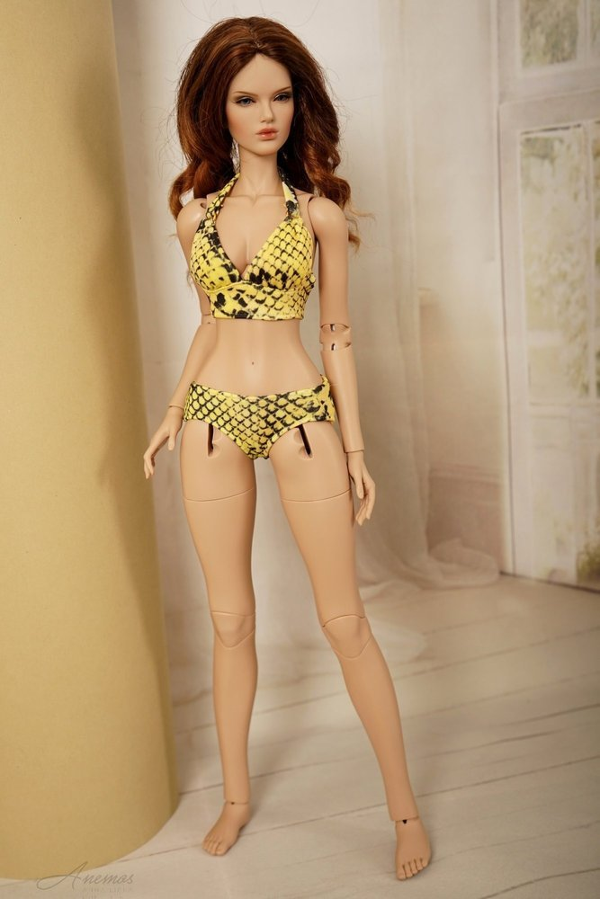 Swimsuits with robe for Raccoon Doll 1