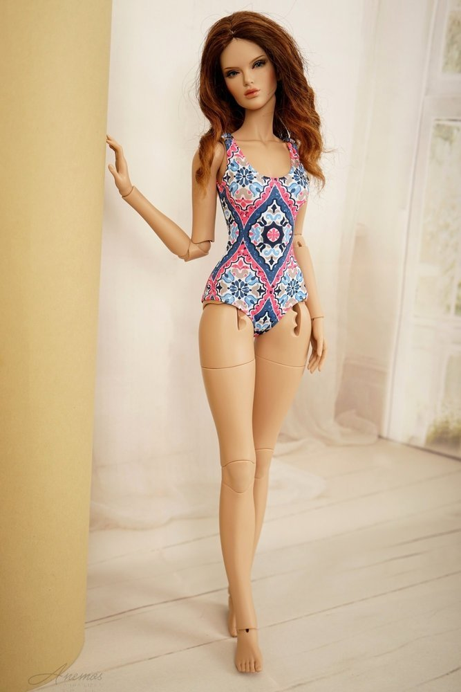 Swimsuits with robe for Raccoon Doll 2