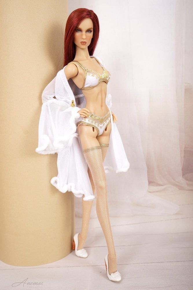 White lingerie set Gold Valentine Day Collection