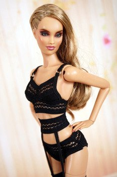 Black lingerie for 16 Kingdom Doll