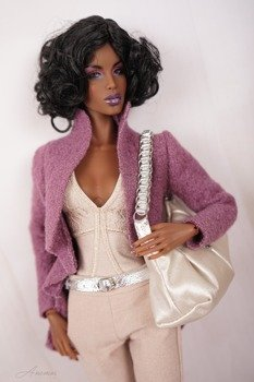 Outfit for Kingdom Doll beige and violet 1